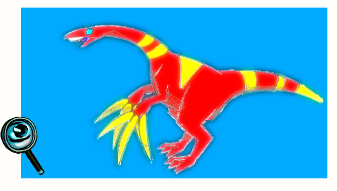 Therizinosaurus with 3 claws