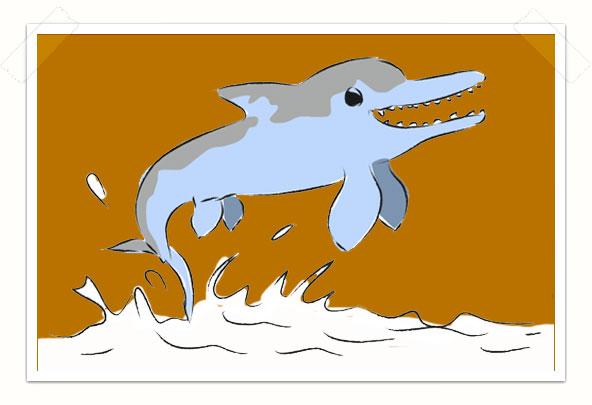 Ichthyosaur leaps up