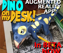 Dino on my desk AR app